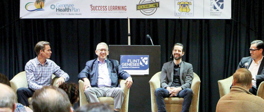 Flint & Genesee Chamber Luncheon entrepreneurial ecosystem panel discussion, Flint Mi