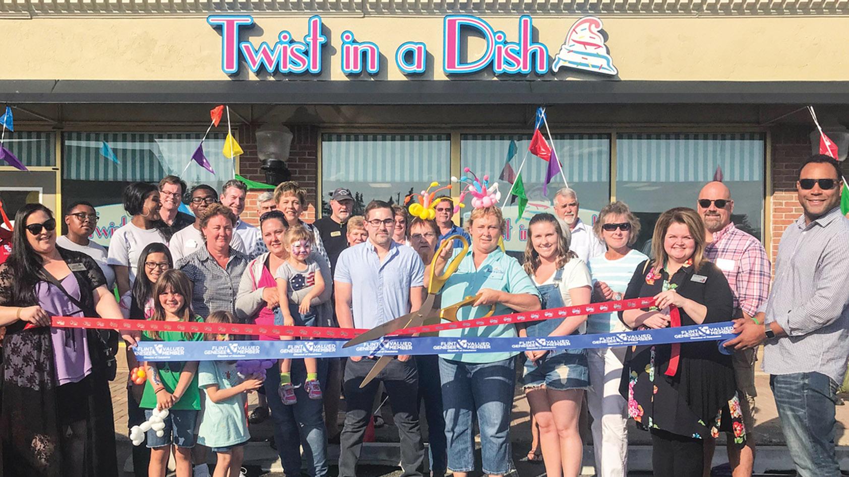 Twist in a Dish ribbon cutting, Flint, MI