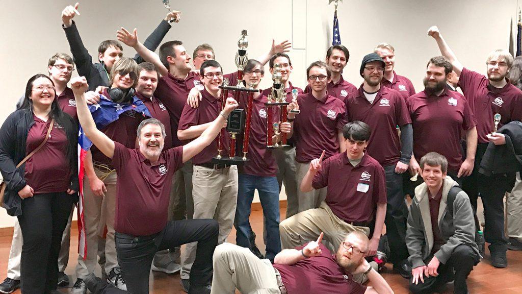 Baker College students win trophy, Flint, Mi