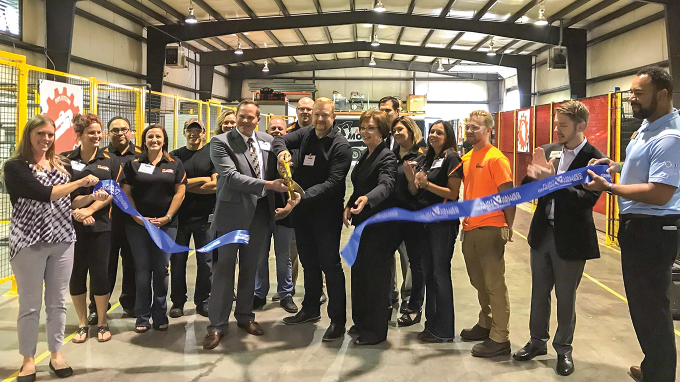 Automation Movers International ribbon cutting, Flint Twp, MI