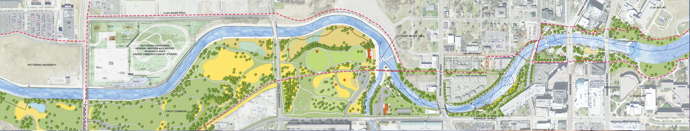 Flint River Map