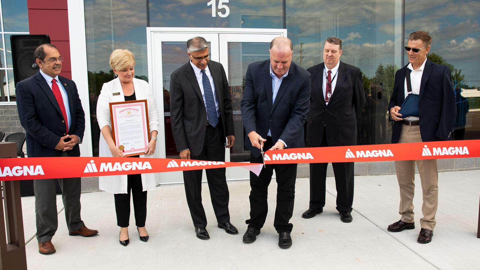 Magna Ribbon Cutting, Grand Blanc, MI