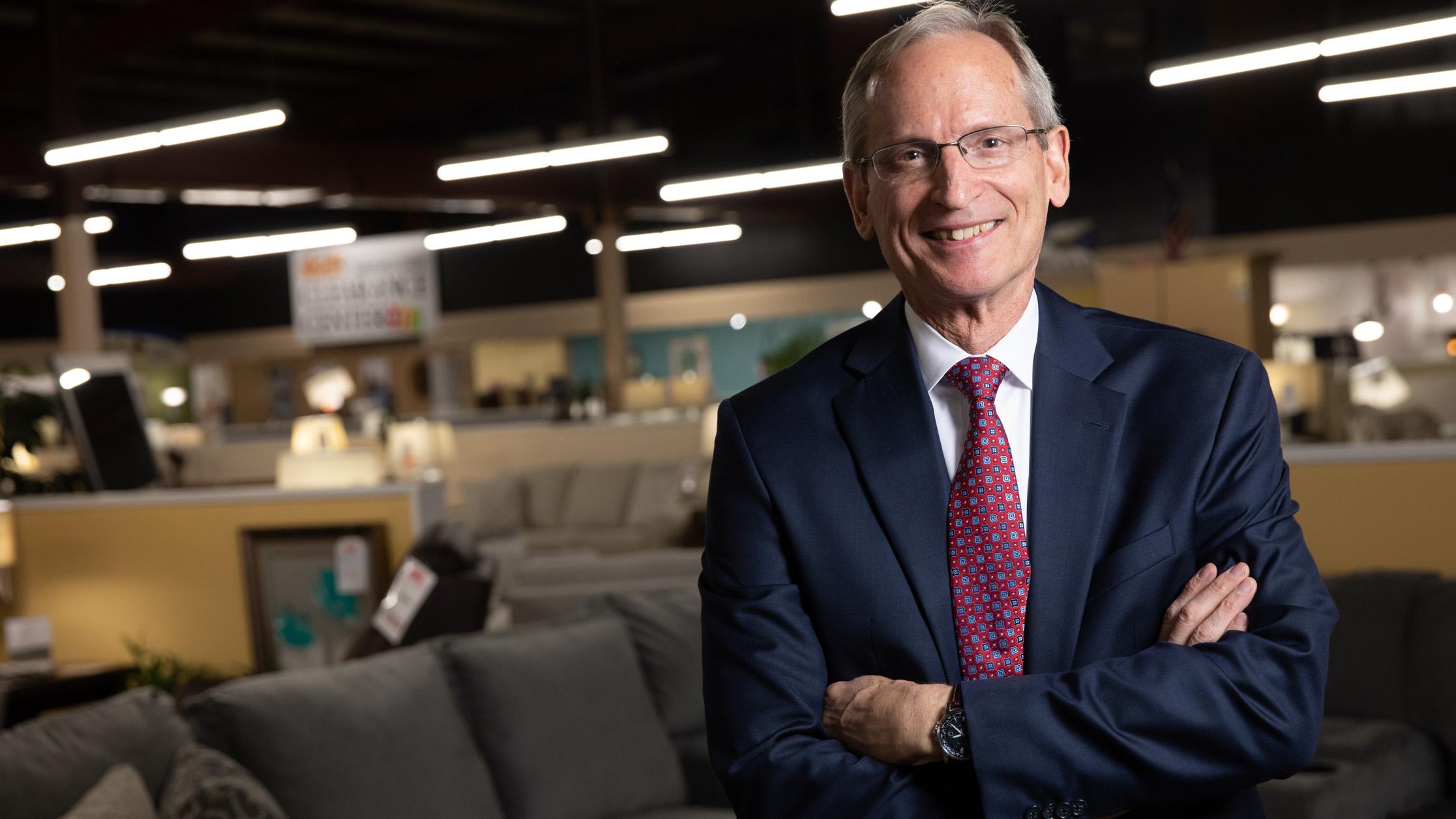 Dick Skaff, co-owner of Skaff Furniture Carpet One in Flint, MI