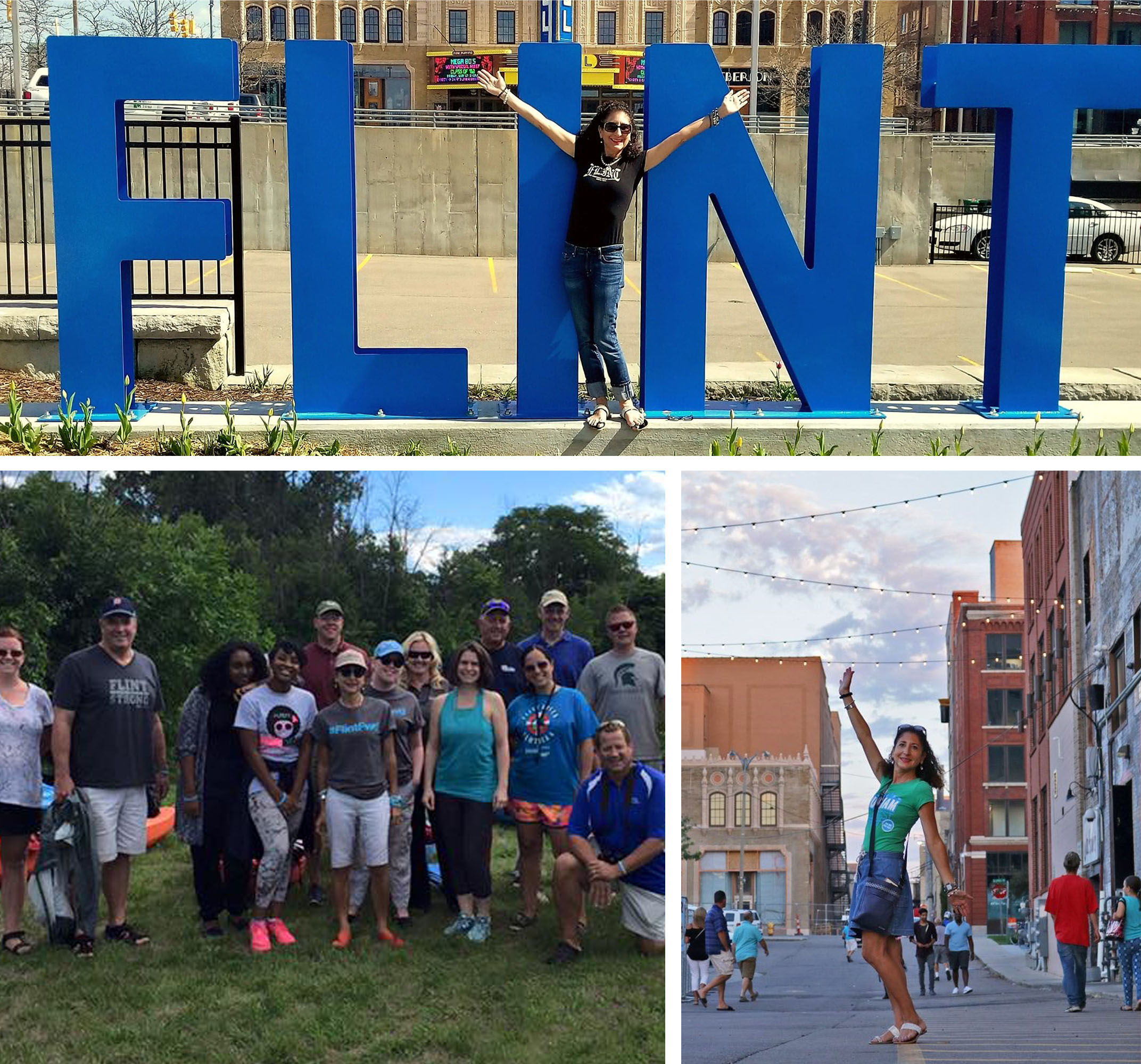 Kitty Gazall shows off the City of Flint