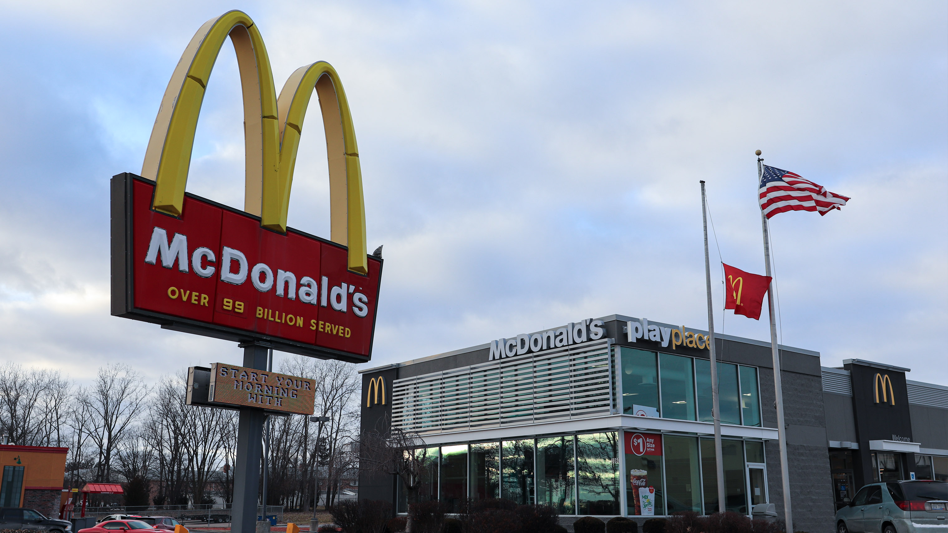 Miller Road Flint McDonald's storefront
