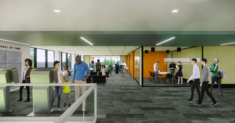 Flint Public Library conference room rendering