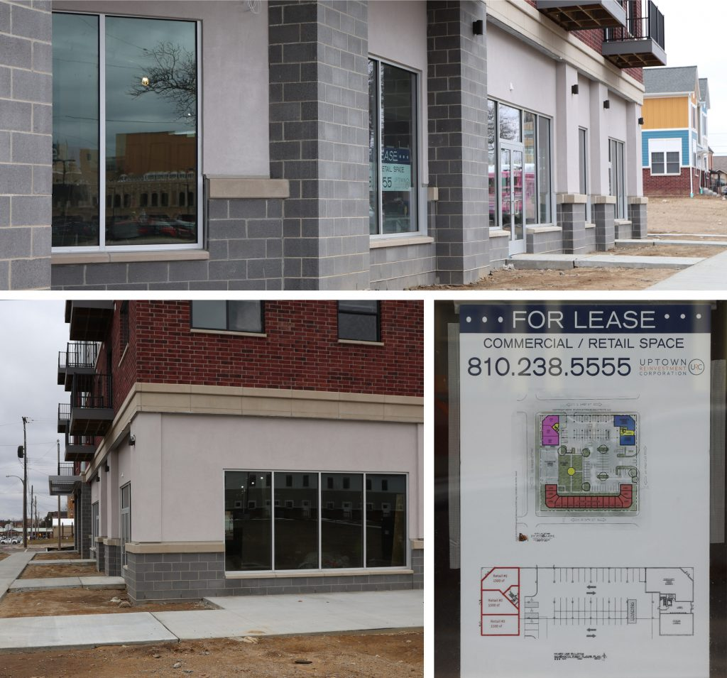 Retail space at The Marketplace Apartments