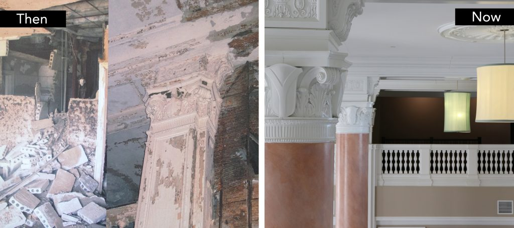 The Durant crumbling inside and restoration