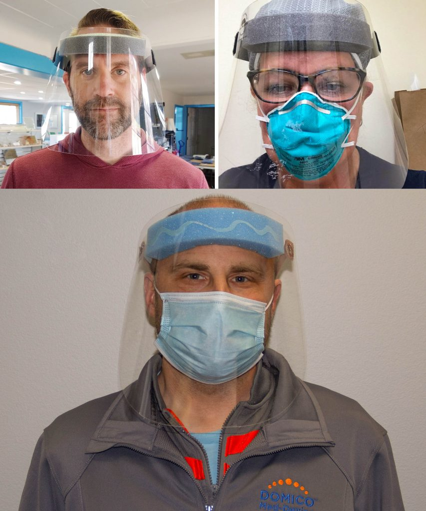 Manufacturers turn to making face shields