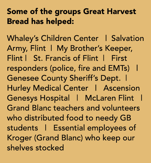 List of groups Great Harvest Bread has helped