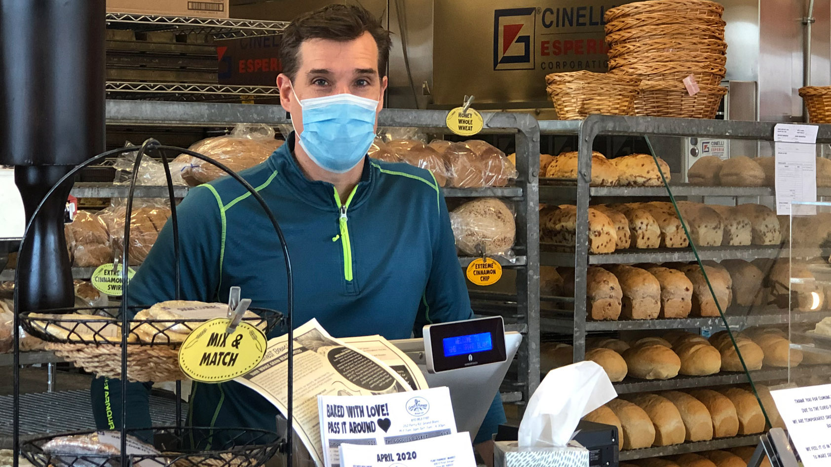 Scott Sassack, owner of Great Harvest Bread Co