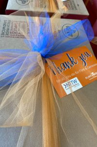 A care packaged delivered by CVB staff to hotel workers