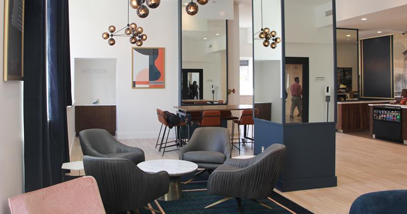 Inside view of new Hilton Garden Inn, downtown Flint, MI