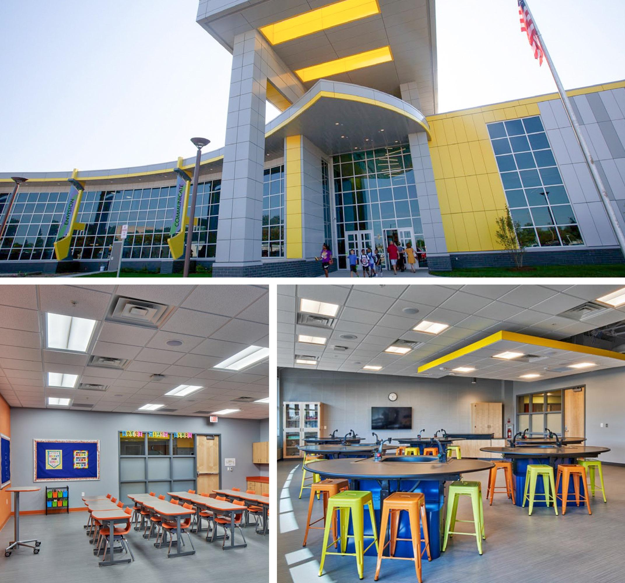 Inside of the new Flint Cultural Center Academy