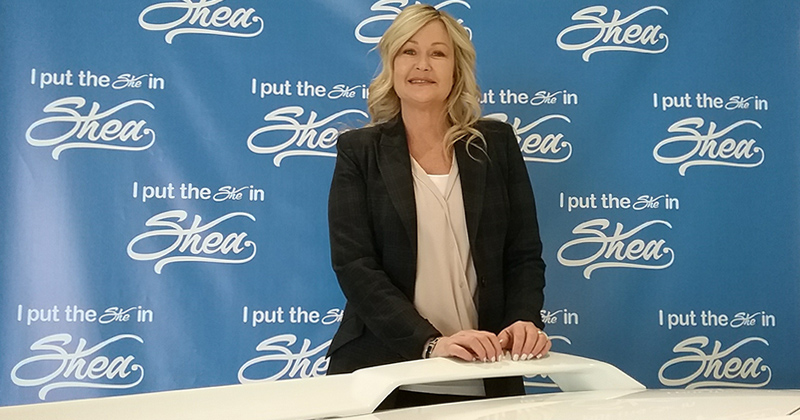 Stacy Shea Fields, the owner of the Shea Automotive Group in Flint Township